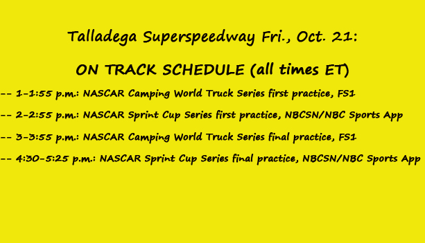(Talladega Friday)