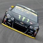 Kurt Busch on track during practice at Kansas Speedway (Getty Images)