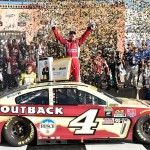 Kevin Harvick and crew celebrate Sunday at Kansas. (Getty Images)