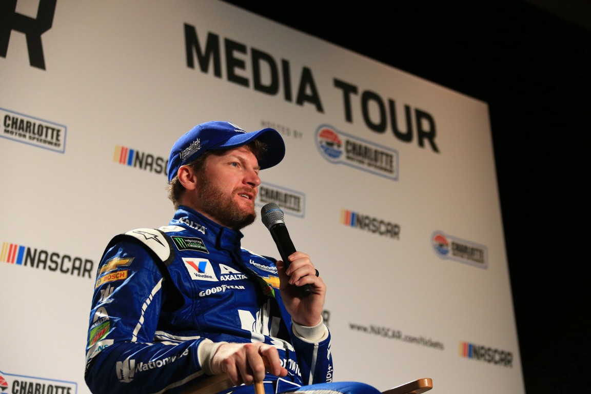 Dale Earnhardt Jr. meets with the media January 25, 2017:   Charlotte Motor Speedway Media Tour. (HHP/Jim Fluharty)