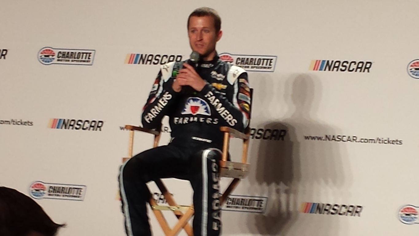 Kasey Kahne meets with the media  Wednesday during the NASCAR Media Tour in Charlotte (Greg Engle)