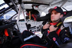 BRISTOL, TN - MARCH 14: James Buescher, driver of the #99 Rheem Toyota, sits in his car during practice for the NASCAR Nationwide Series Drive To Stop Diabetes 300 at Bristol Motor Speedway on March 14, 2014 in Bristol, Tennessee.  (Photo by Will Schneekloth/Getty Images)