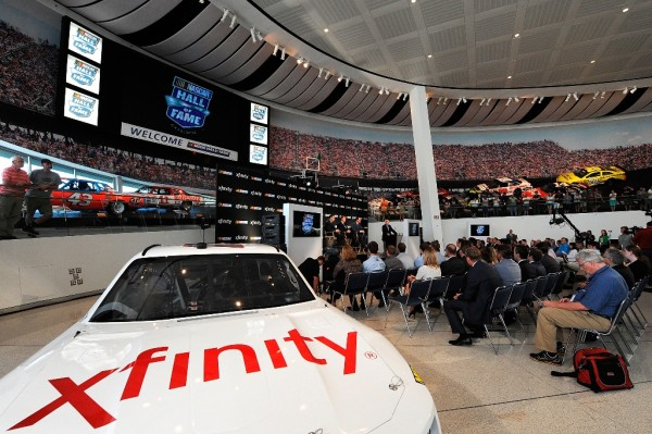 A general view of the Great Hall during the NASCAR series partnership announcement at NASCAR Hall of Fame on September 3, 2014 in Charlotte, North Carolina. NASCAR and Xfinity announced a deal that will span ten years. (Getty Images)
