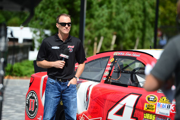Bristol, CT - September 10, 2014 - ESPN Plaza: Kevin Harvick during a SportsCenter segment (Photo by Joe Faraoni / ESPN Images)