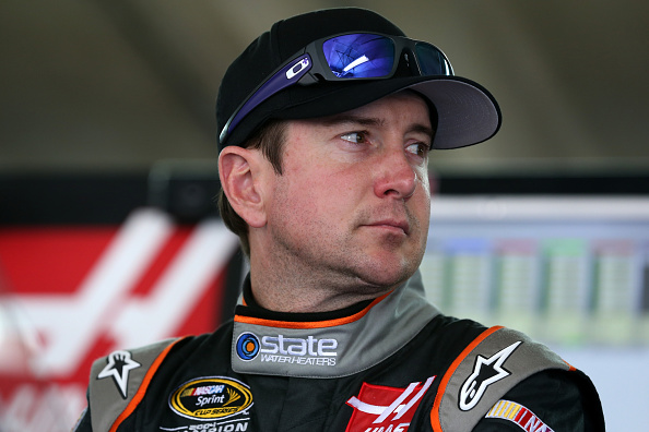 CHARLOTTE, NC - OCTOBER 09:  Kurt Busch, driver of the #41 State Water Heaters Chevrolet, looks on during practice for the NASCAR Sprint Cup Series Bank of America 500 at Charlotte Motor Speedway on October 9, 2014 in Charlotte, North Carolina.  (Photo by Sarah Glenn/Getty Images)