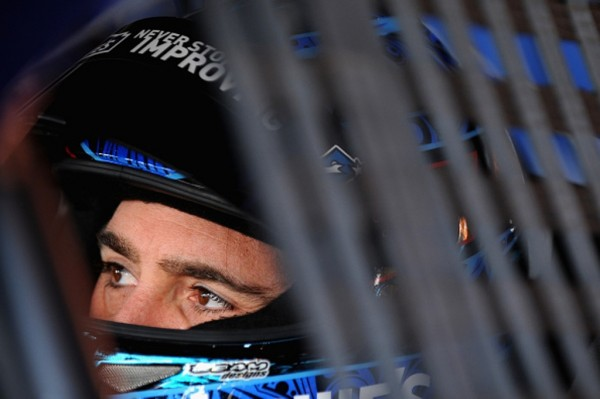 Jimmie Johnson prepares to practice Friday at Martinsville Speedway. (Getty Images)