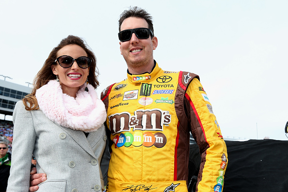 Kyle Busch and wife Samantha (Getty Images)
