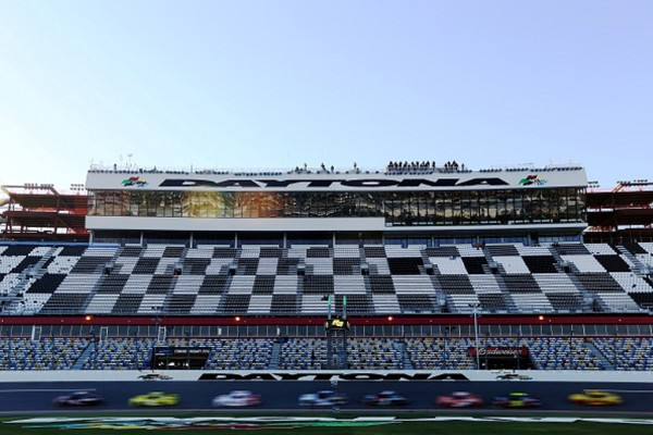Cars took to the track for the first time Friday at Daytona (Getty Images)