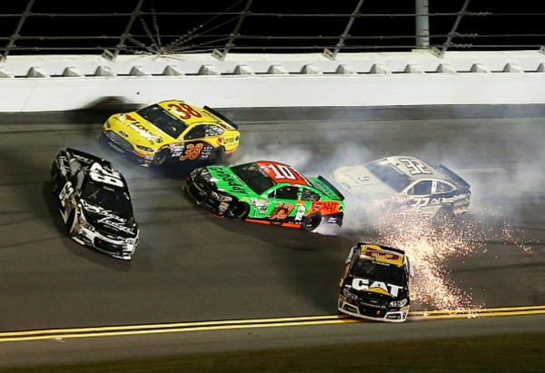 Danica Patrick crashes Thursday at Daytona (Getty Images)