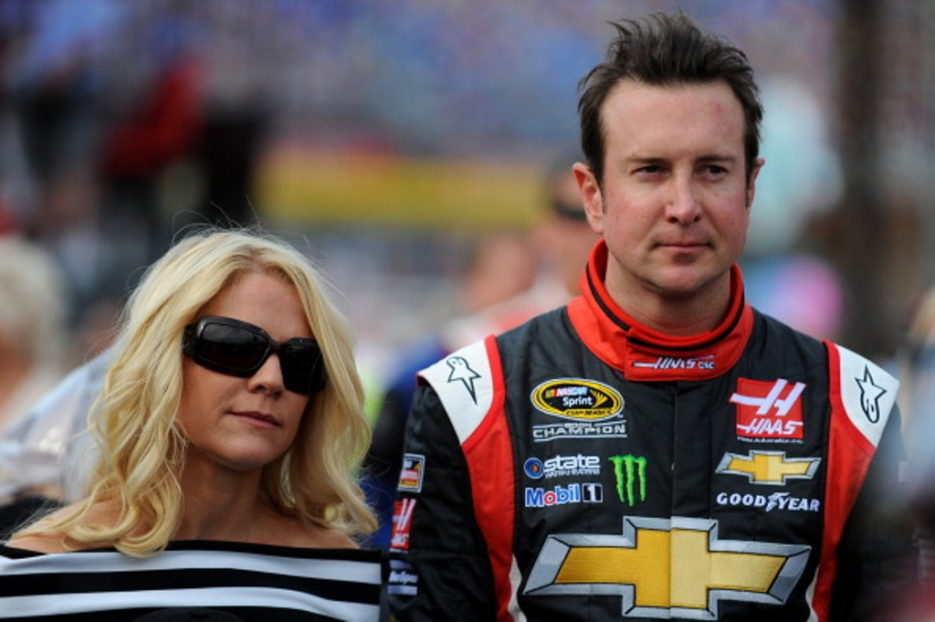 CHARLOTTE, NC - MAY 25 2014: Kurt Busch, driver of the #41 Haas Automation Made in America Chevrolet, stands with his girlfriend, Patricia Driscoll, on the grid prior to the NASCAR Sprint Cup Series Coca-Cola 600 at Charlotte Motor Speedway on May 25, 2014 in Charlotte, North Carolina.  (Photo by Will Schneekloth/Getty Images)