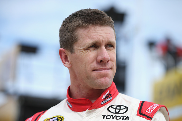 Carl Edwards in the garage during practice for the NASCAR Sprint Cup Series AAA Texas 500 at Texas Motor Speedway on November 6, 2015 in Fort Worth, Texas.