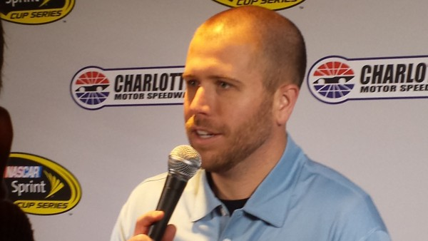 Brian Scott meets with the media Wednesday in Charlotte (Greg Engle)