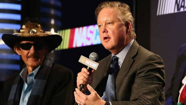 Brian France meets with the media Tuesday in Charlotte (NASCAR)