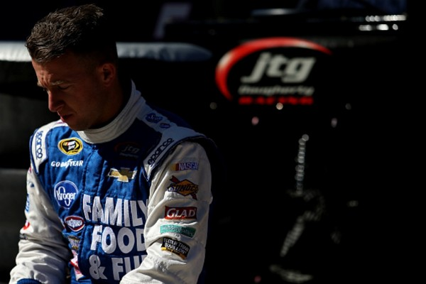 AJ Allmendinger uring practice for the NASCAR Sprint Cup Series Food City 500 at Bristol Motor Speedway on April 16, 2016 in Bristol, Tennessee.
