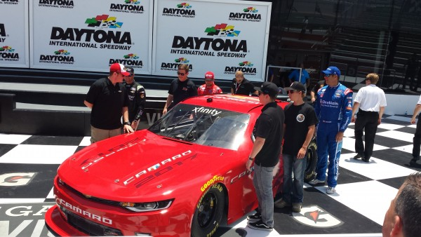Chevy unveiled its sixth generation Xfinity Series Camaro at Daytona Thursday (Photo: Greg Engle)