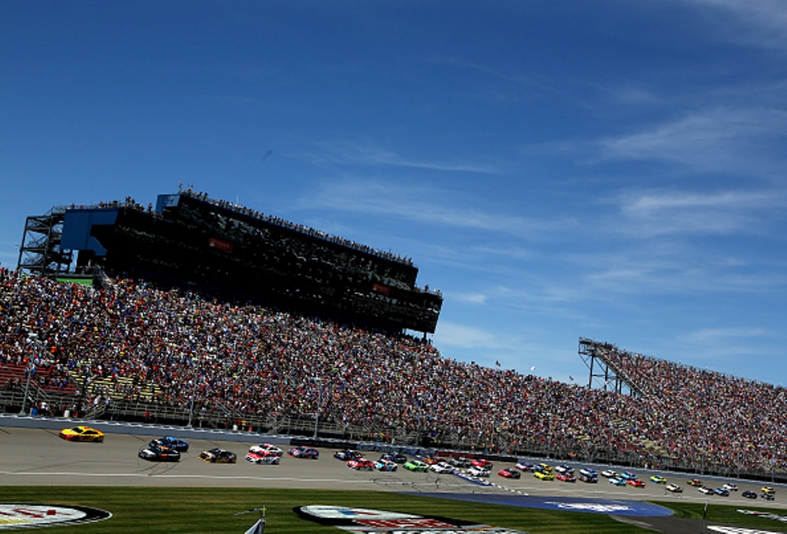 NASCAR heads back to Michigan International Speedway this weekend. (Getty Images)