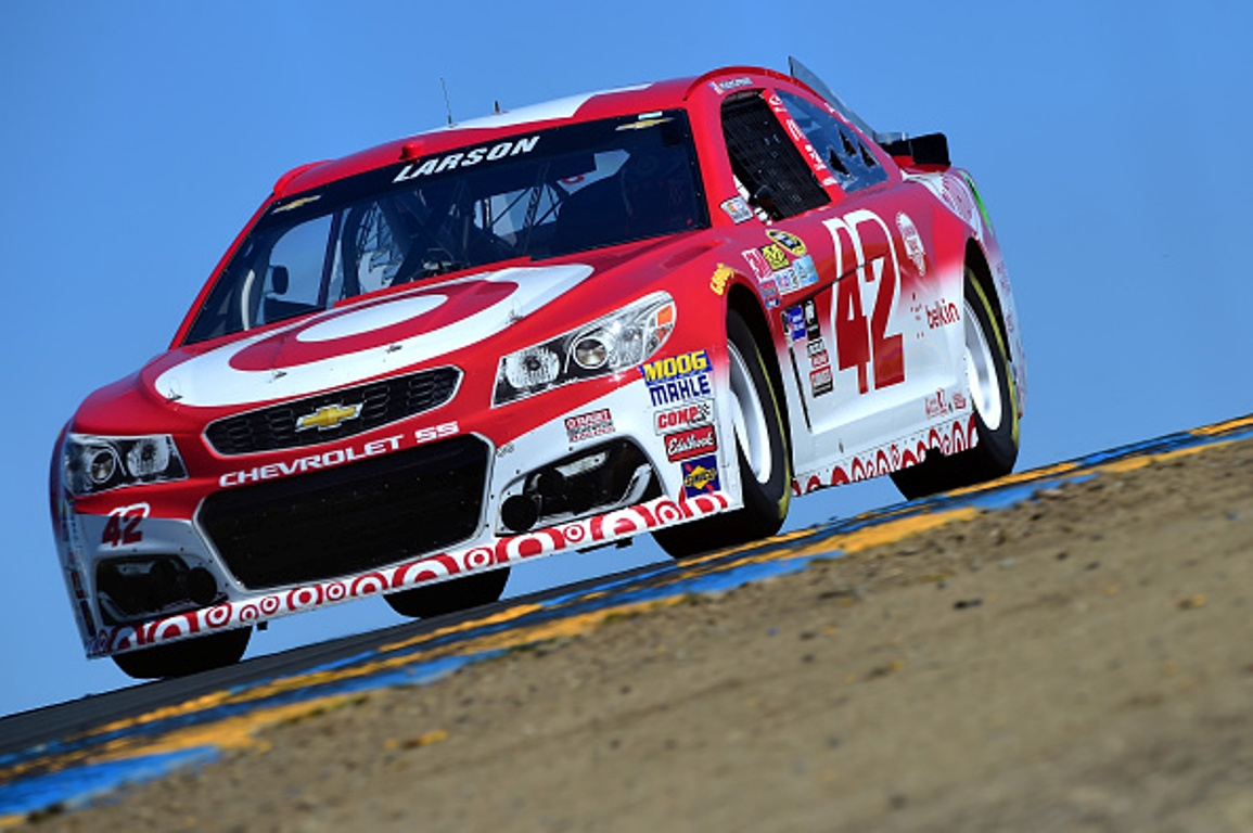 Kyle Larson practices at Sonoma Raceway Friday June 24, 2016