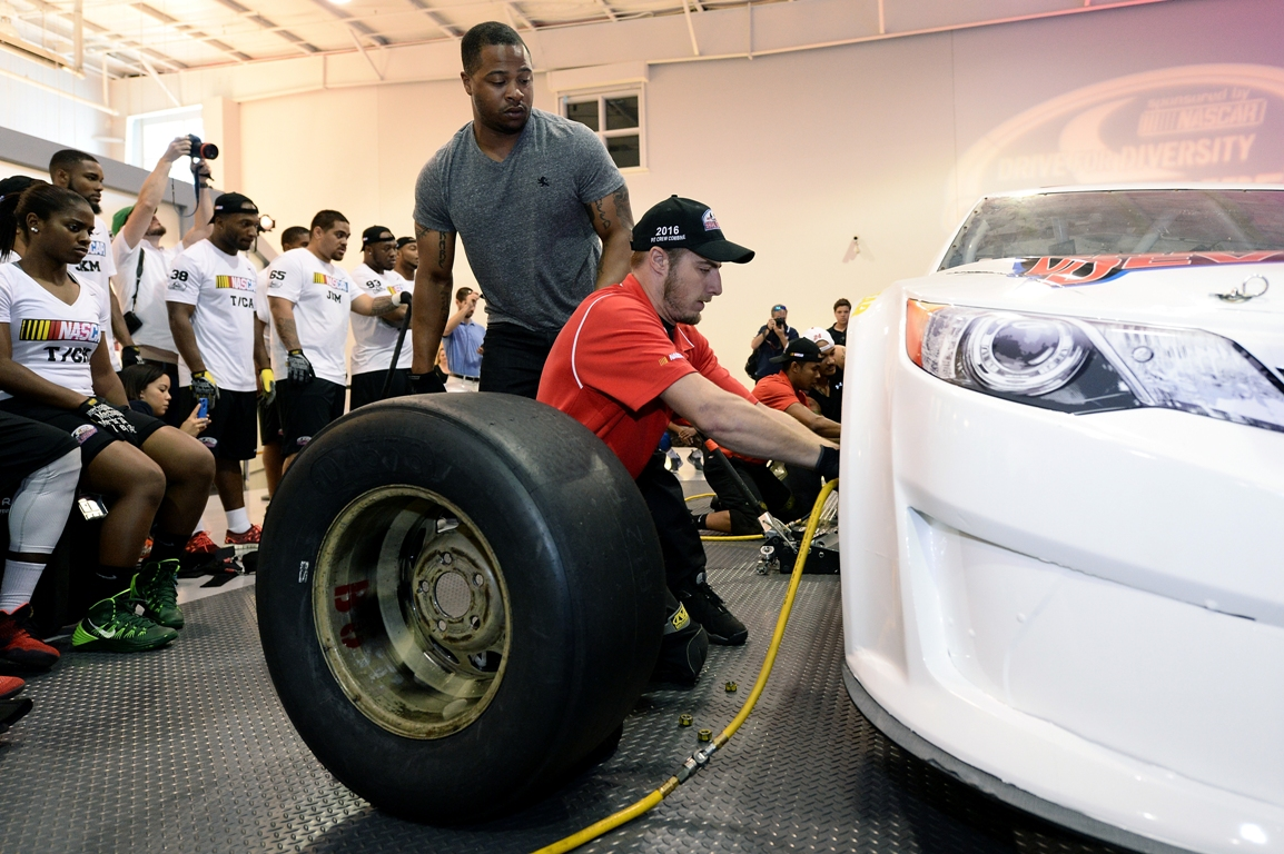 Kevin Richardson is a graduate of the NASCAR Drive for Diversity pit crew program. (Getty Images)