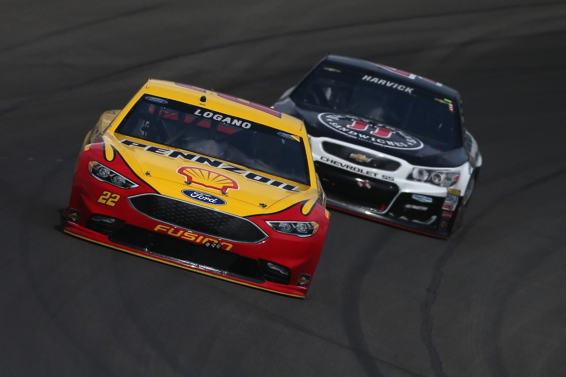 Joey Logano led 24 laps at Michigan Sunday (Getty Images)