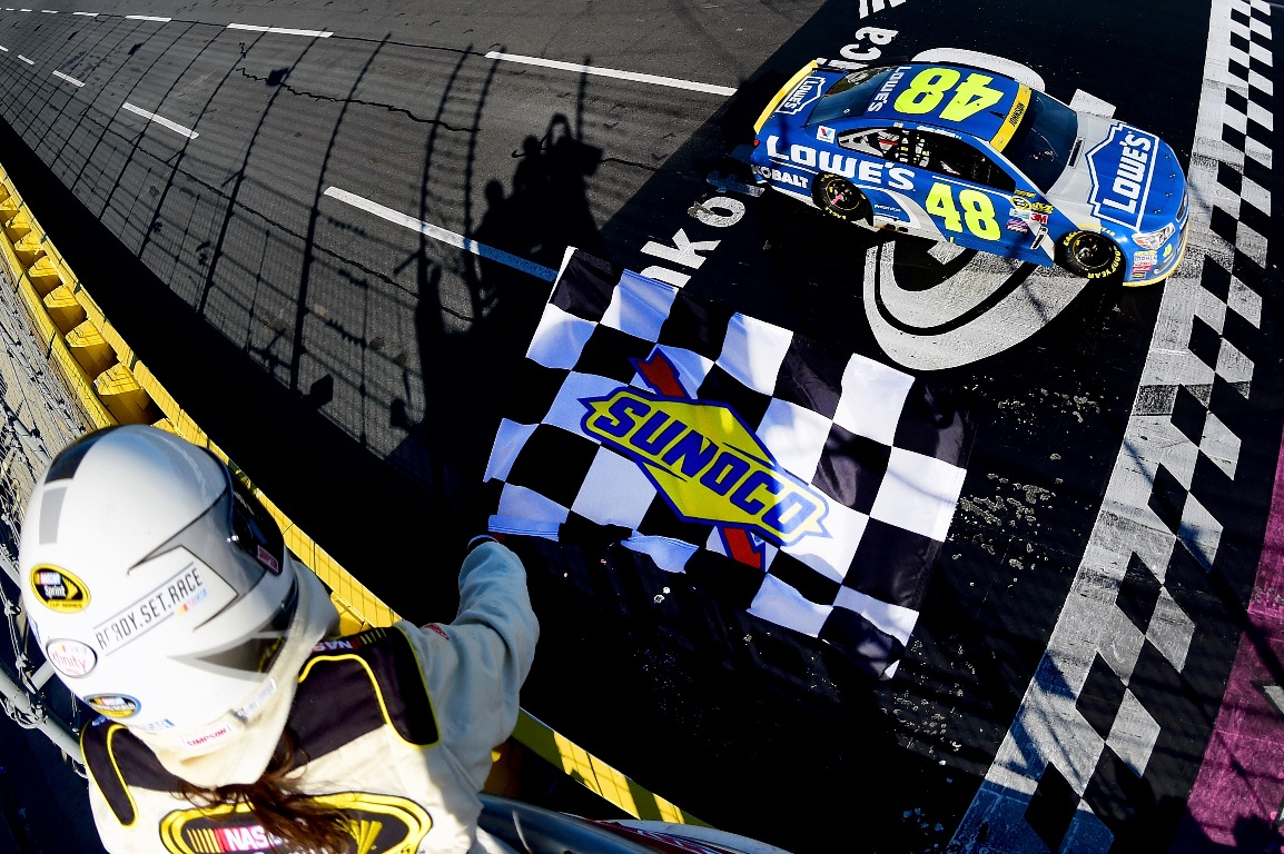 Jimmie Johnson led 105 laps at Charlotte Sunday. (Getty Images)