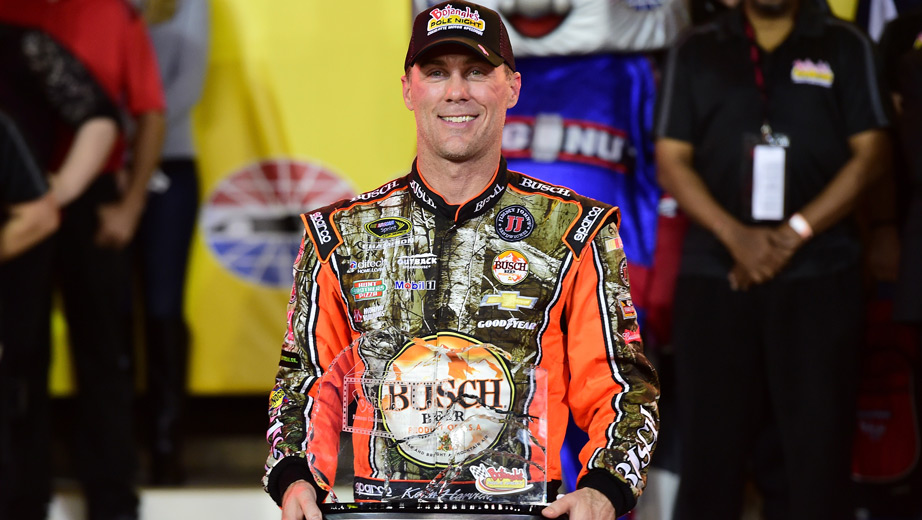 Kevin Harvick won the pole Thursday night at Charlotte Motor Speedway for Saturday night's Bank of America 500. (Getty Images)