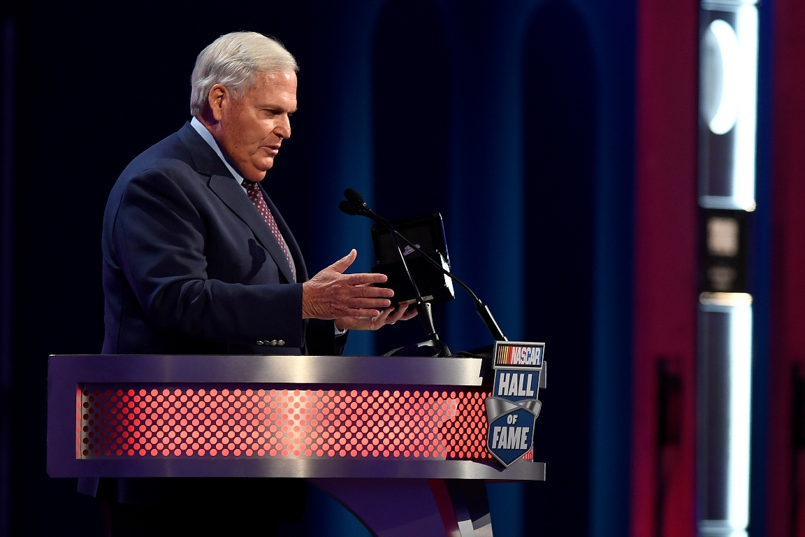 NASCAR Hall of Fame inductee Rick Hendrick speaks during the NASCAR Hall of Fame Class of 2017 Induction Ceremony at NASCAR Hall of Fame on January 20, 2017 in Charlotte, North Carolina (Getty Images)