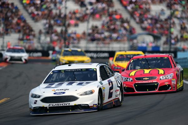 Video Brad Keselowski Kyle Busch Go Another Round At The