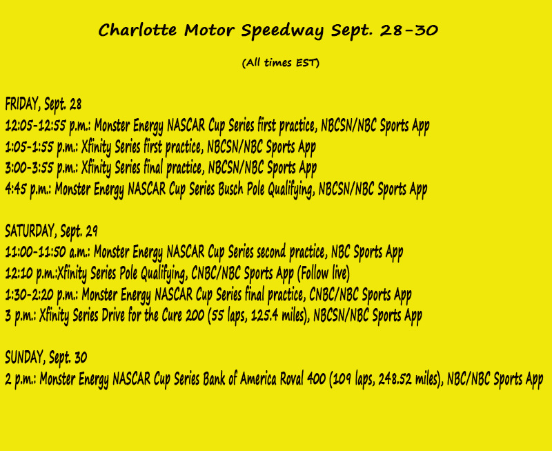 NASCAR Weekend Preview: Charlotte Motor Speedway Road Course