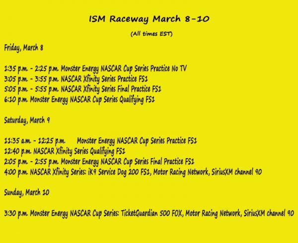 NASCAR Weekend Preview: ISM Raceway | CupScene com